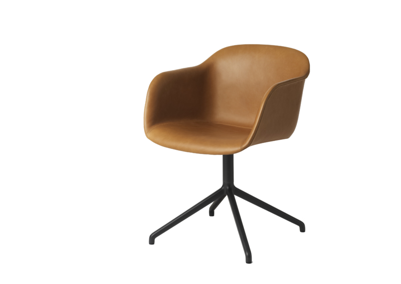 Fiber_chair_swivelbase_cognac_silk_leather_