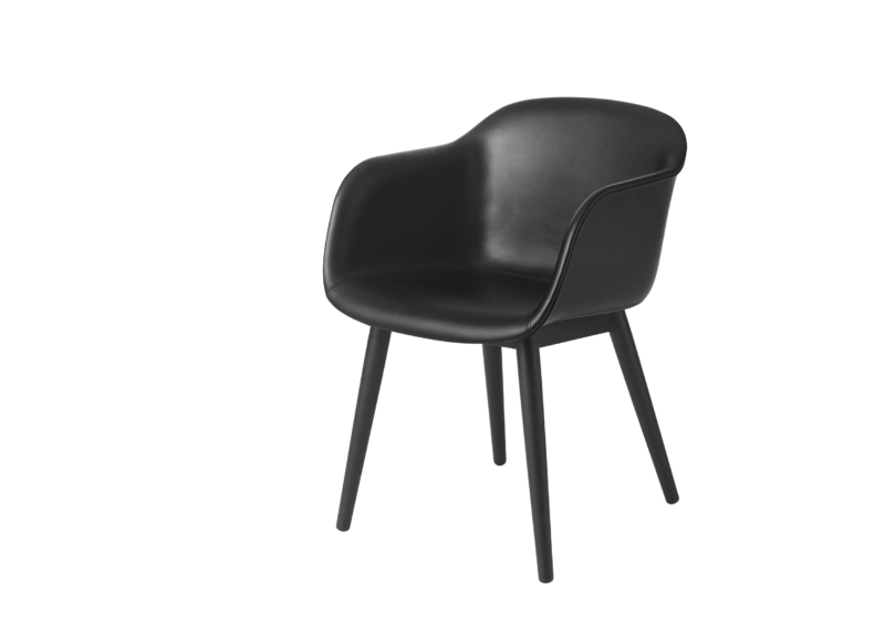 Fiber_chair_woodbase_black_silk_leather_white_low