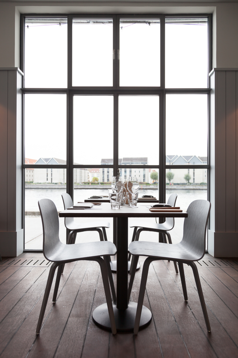 VISU Chairs amd PLUS Grinders with a view at Almanak – The Standard – Copenhagen