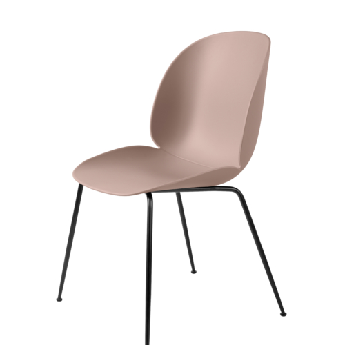 Beetle_DiningChair_Conic_Unupholstered_Black_SweetPink_Front